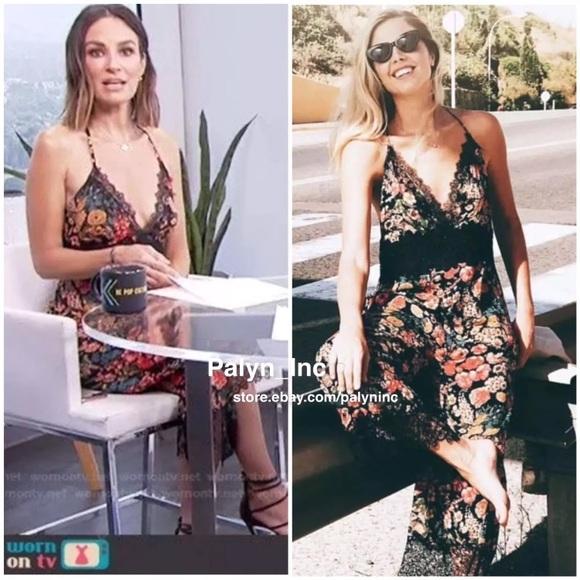ac98bb351e53 Zara Cropped lace floral print black jumpsuit